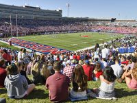 College Football: View of Gerald J. Ford Stadium during SMU vs Temple game.  University Park, TX 10/19/2019 CREDIT: Greg Nelson (Photo by Greg Nelson /Sports Illustrated/Getty Images) (Set Number: X163004 TK1 )