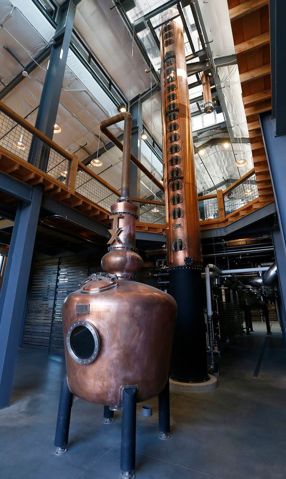 A doubler and column stills inside the stillhouse at Firestone and Robertson Distillery's new Whiskey Ranch on Wednesday, Nov. 1, 2017, in Fort Worth, Texas. (Jae S. Lee/The Dallas Morning News)