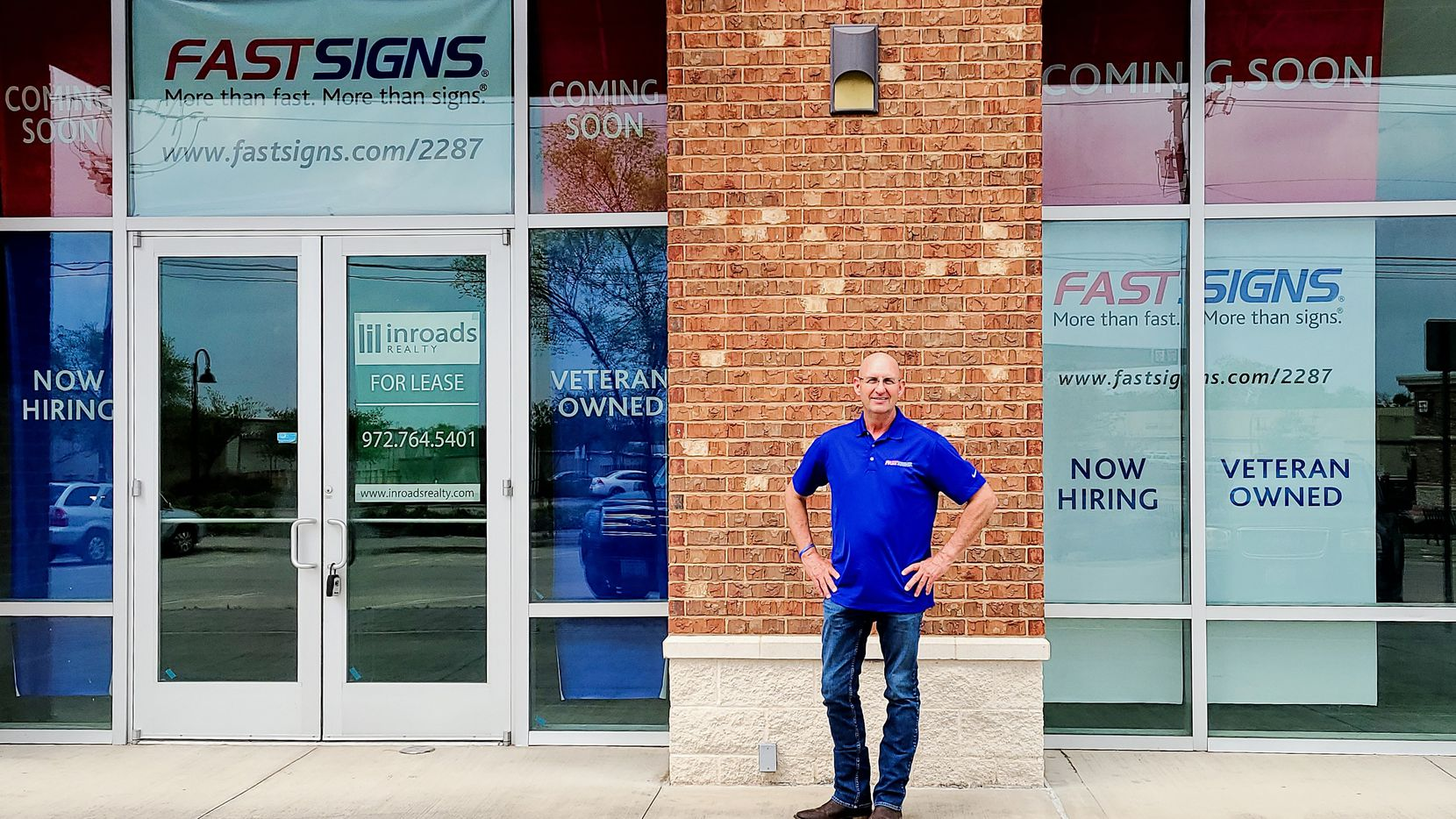 Darrin Lawrence is the franchise owner of the new Fastsigns store opening in Richardson in July.