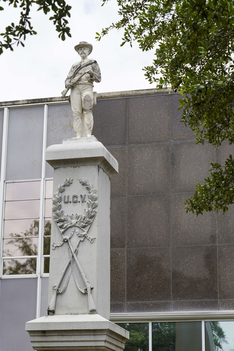 The confederate monument in front of the Kaufman County Courthouse seen on Thursday, June 25, 2020, in Kaufman, Texas.  The monument commemorates Kaufman Country residents who fought for the confederacy in the civil war.