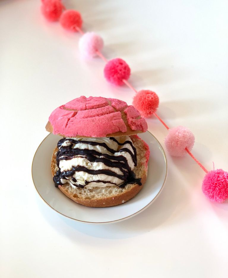 The Concha Ice Cream Sandwich is a cool summer treat from CocoAndre Chocolatier in Dallas.