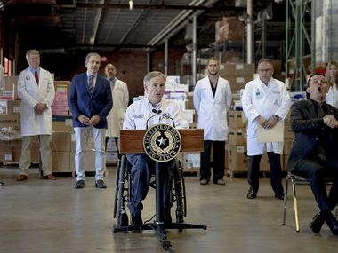 Texas Gov. Greg Abbott speaks during a press conference about the state's response to the coronavirus on Tuesday, March 24, 2020, in Austin, Texas.