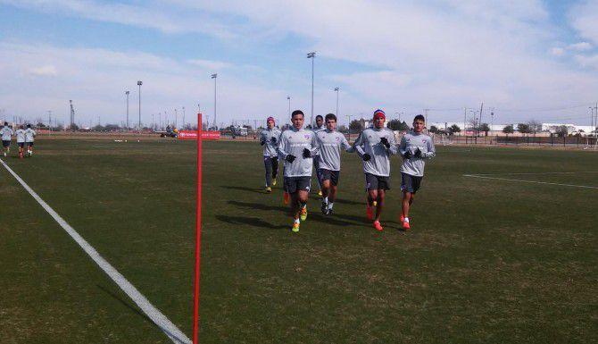 Jugadores del FC Dallas entrenaron el viernes en Frisco.