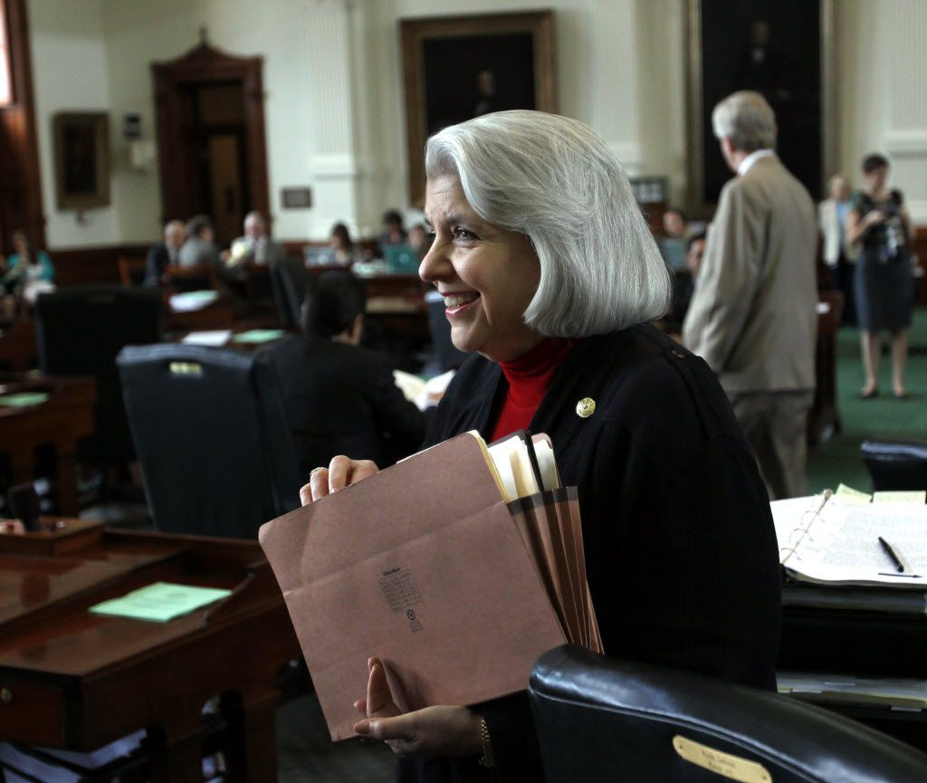 State Senator Judith Zaffirini, D-Laredo, is pictured during the final session of the 83rd Texas legislature at the State Capitol in Austin on Monday, May 27, 2013.