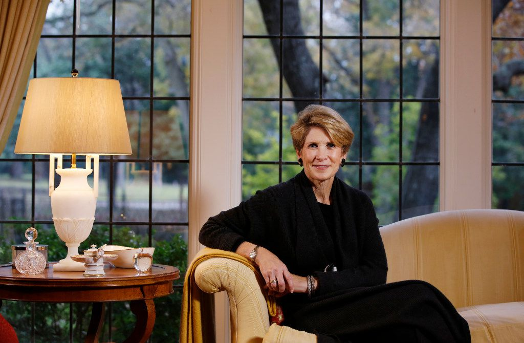Laura Miller, former Dallas Mayor posses for a portrait in her living room at her home on Monday, December 5, 2016 in Dallas, Texas. (David Woo/The Dallas Morning News)