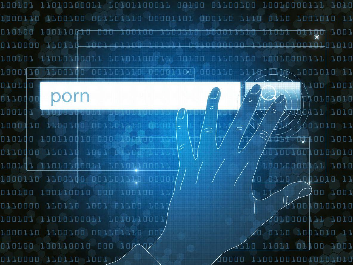 Búsqueda en Internet por sitios con contenido pornográfico.