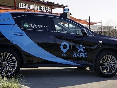 The city of Arlington, May Mobility, Via Rideshare and UTA unveiled its Autonomous vehicle service in Arlington, Texas on Tuesday, March 23, 2021.