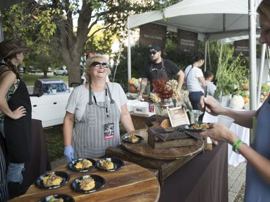 Sharon Van Meter, center, has been in the restaurant industry for 42 years and has mentored more than 200 chefs. She's pictured here at Chefs for Farmers festival in 2017.