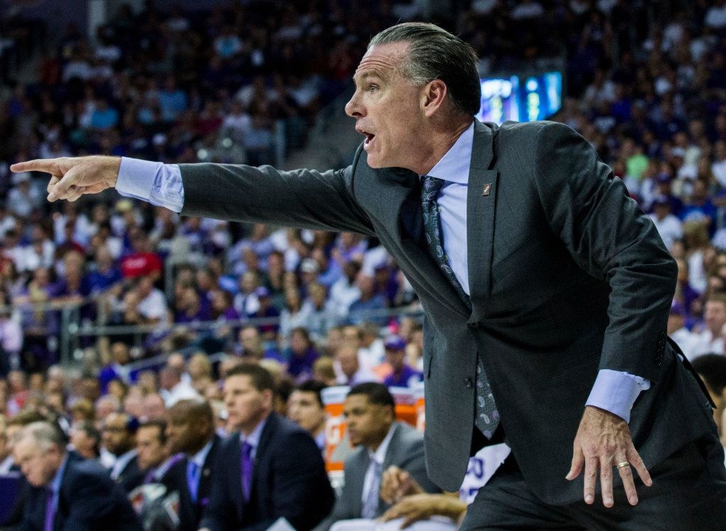 TCU Horned Frogs head coach Jamie Dixon points to a player on the court during the first half of an NIT quarterfinal game between TCU and University of Richmond on Tuesday, March 21, 2017 at the Ed & Rae Schollmaier Arena in Fort Worth. (Ashley Landis/The Dallas Morning News)