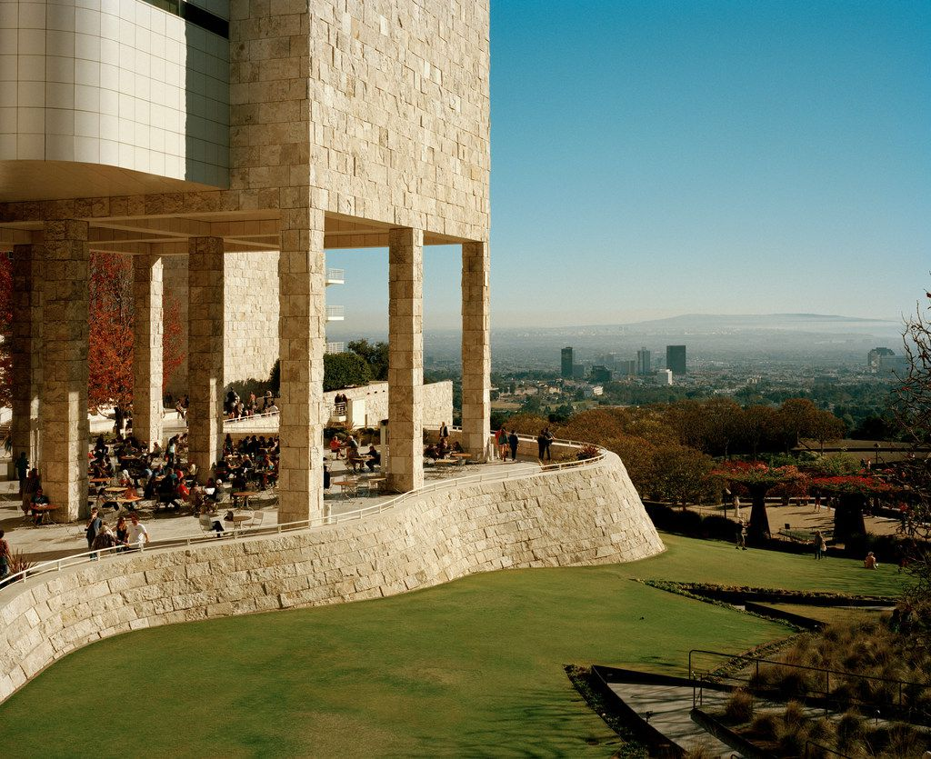 The Getty Center in Los Angeles, which was designed by Richard Meier