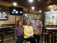 Strangeways owners Rosie Ildemaro, Eric Sanchez, and their mom, Yolanda Sanchez
