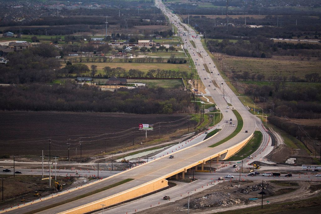 Construction on U.S. Highway 380 at Preston Road photographed on Monday, March 6, 2017, in Frisco, Texas.