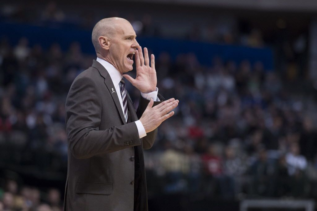 Mavericks head coach Rick Carlisle yells to his team during the first quarter against the Miami Heat on Wednesday. He said he has nothing but faith in the abilities of Chandler Parsons. Jerome Miron-USA TODAY Sports