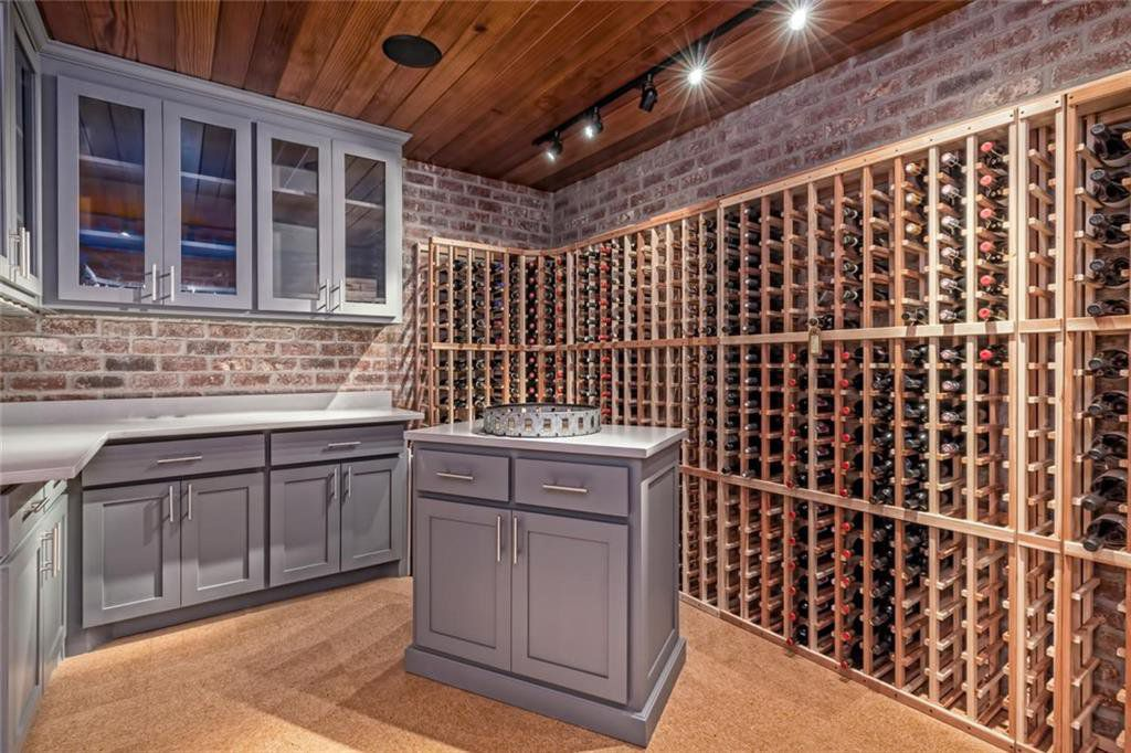 The wine cellar in the Rhule house.