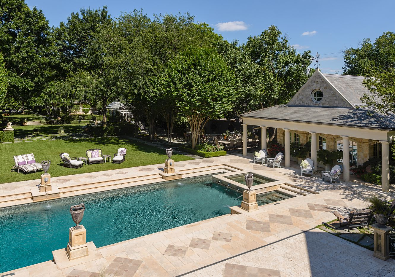 Along with the pool house there are guest quarters and two spa areas.