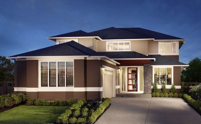 Henley's MainVue Homes has a successful line ofhouses that don't use historical styles.