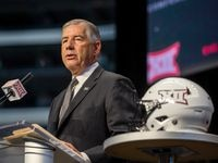 Big 12 Commissioner Bob Bowlsby speaks during the Big 12 Conference Media Days event at the AT&T Stadium in Arlington, Texas, Monday, July 15, 2019.