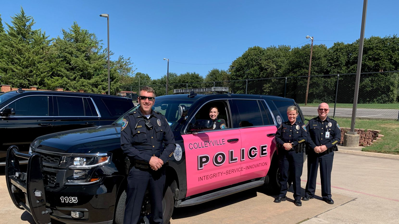 In October, a Colleyville police car sported a pink finish in support of Breast Cancer Cancer Awareness Month. To start the new year, police warned against scams targeting seniors and others.