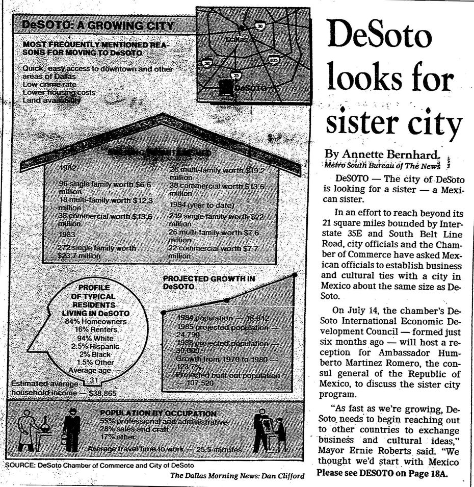 Clip of July 2, 1984 from The Dallas Morning News.