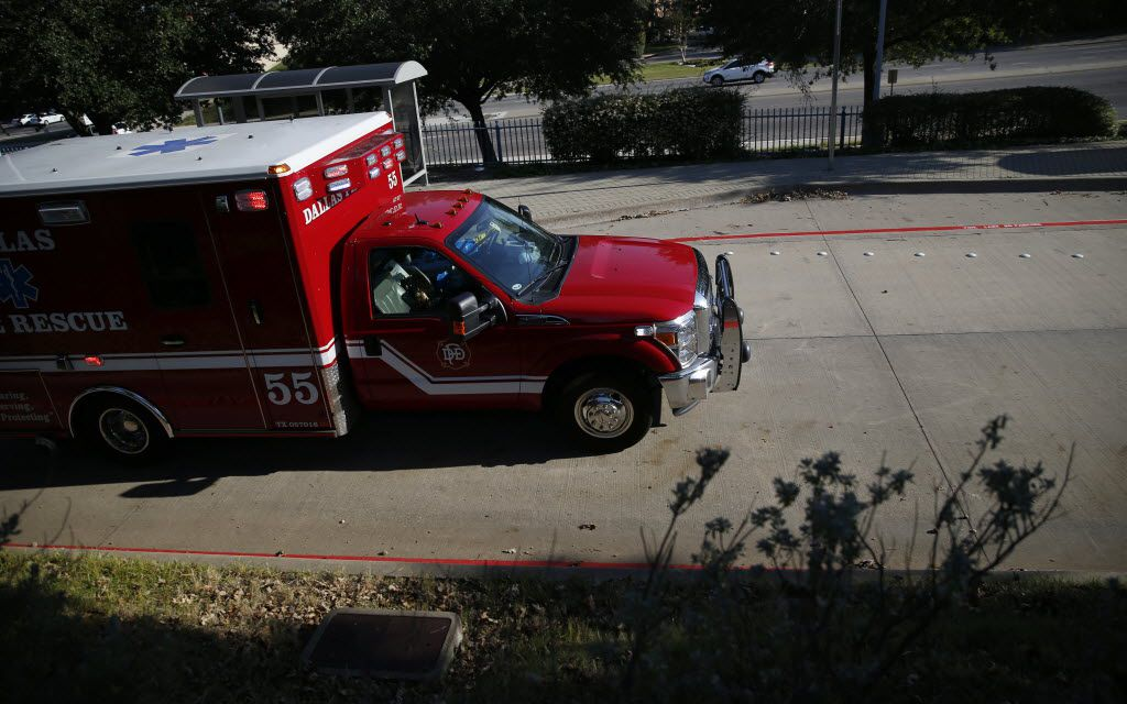 A Dallas Fire-Rescue ambulance.