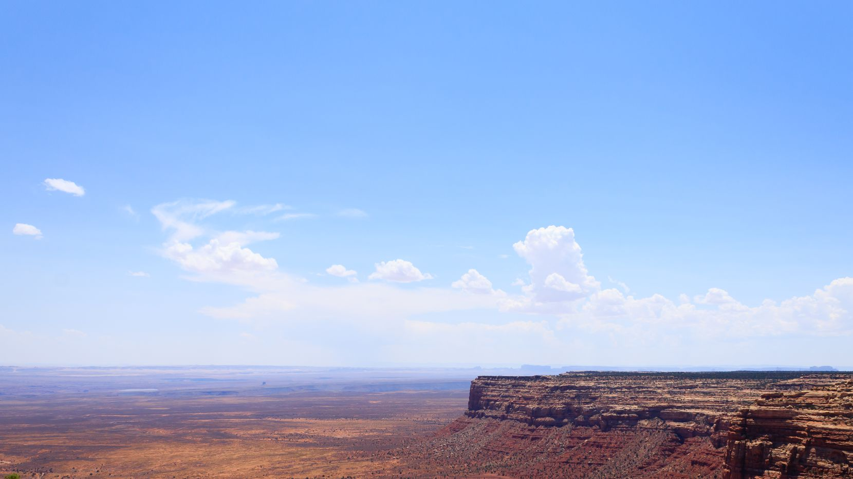 Arizona panorama from Moki Dugway, Muley Point Overlook.  Open space. United States of America