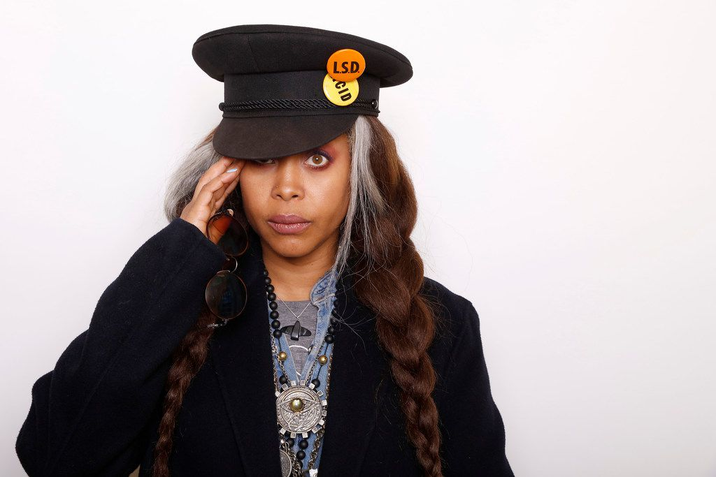 """FILE - In this Jan. 25, 2016 file photo, musician and Actress Erykah Badu poses for a portrait to promote the film, """"The Land"""", during the Sundance Film Festival in Park City, Utah. On Sunday, Badu will host the Soul Train Awards on BET.  (Photo by Matt Sayles/Invision/AP, File)"""
