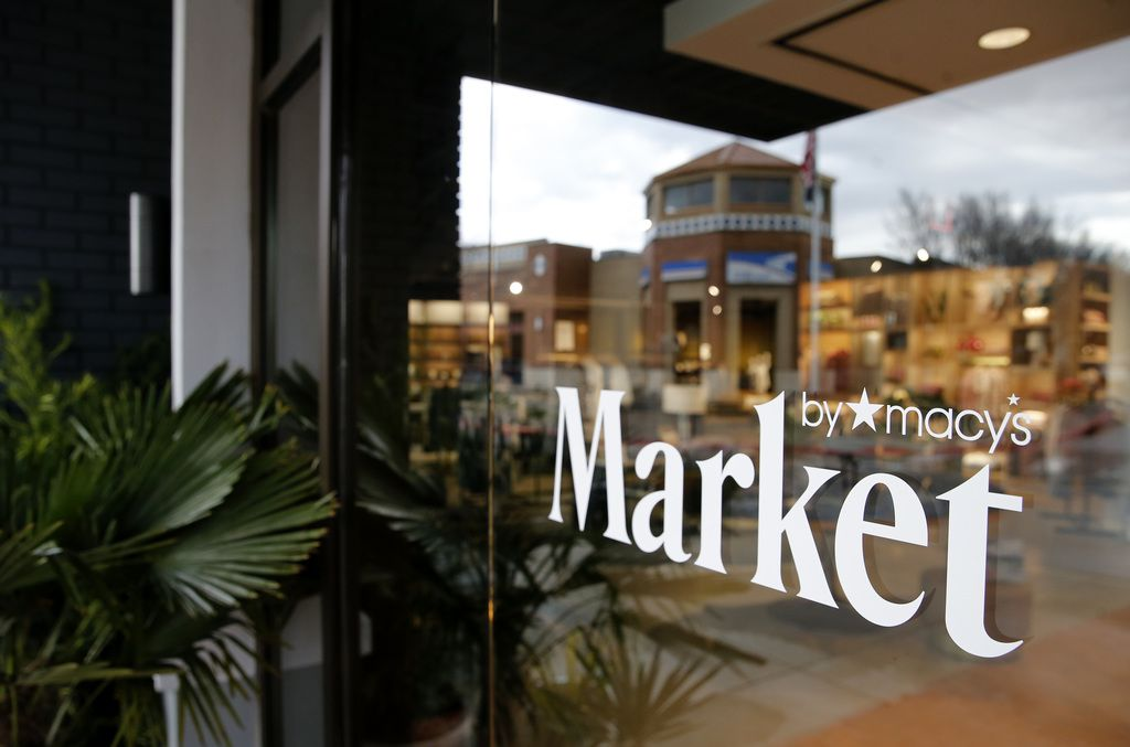 Southlake is reflected in the front entrance of the Market by Macy's in Southlake, Texas on Tuesday, January 28, 2020. (Vernon Bryant/The Dallas Morning News)