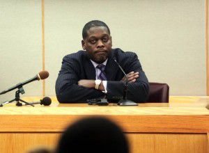 Former Dallas County District Attorney Craig Watkins testifies at a hearing where he was accused of prosecutorial misconduct. He was held in contempt of court. He was later acquitted. (File Photo)