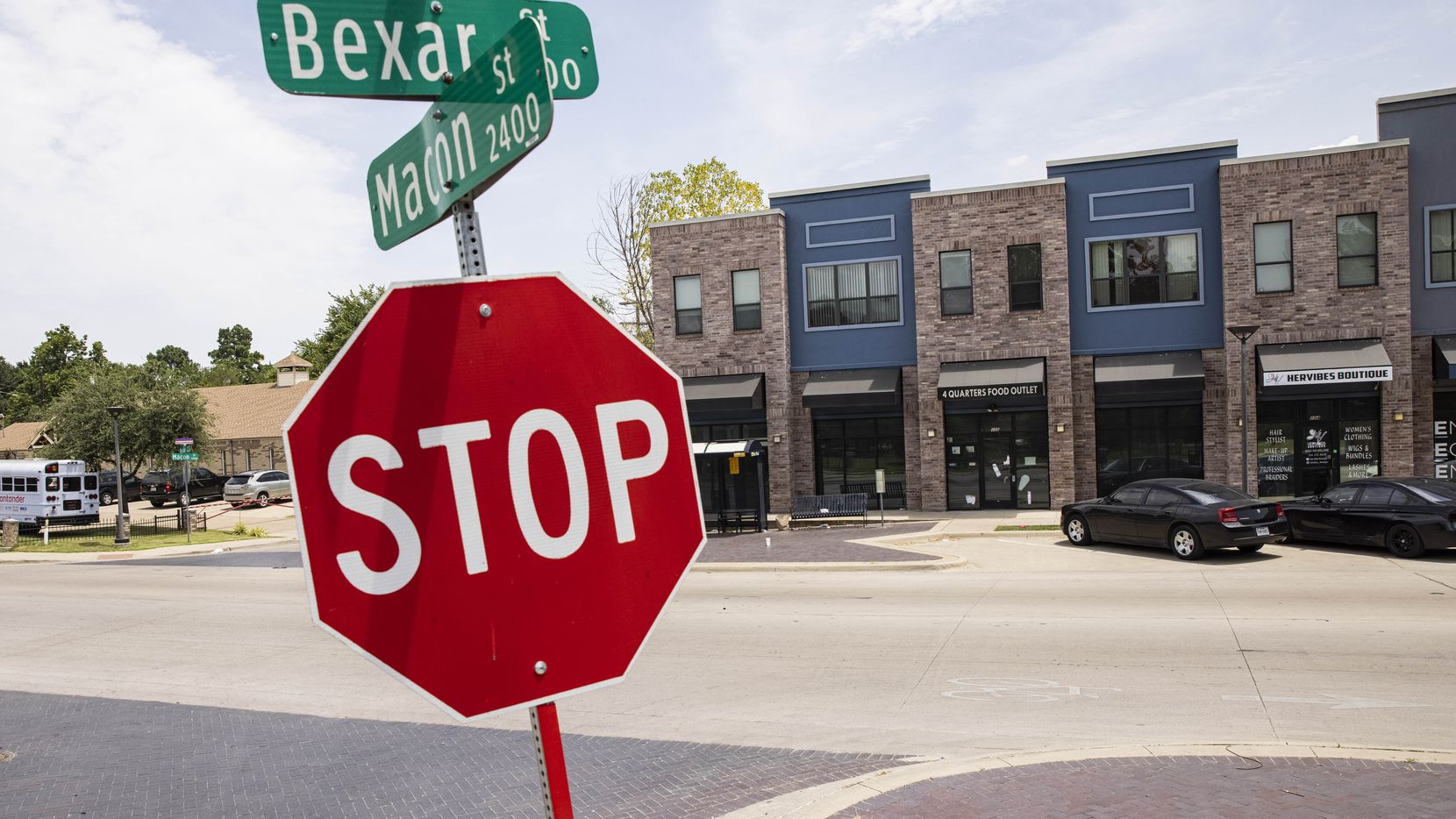 The 5210 Bexar Street mixed-use property in the Ideal neighborhood of South Dallas. The city is looking to sell the complex, once seen as key to the area's revitalization.