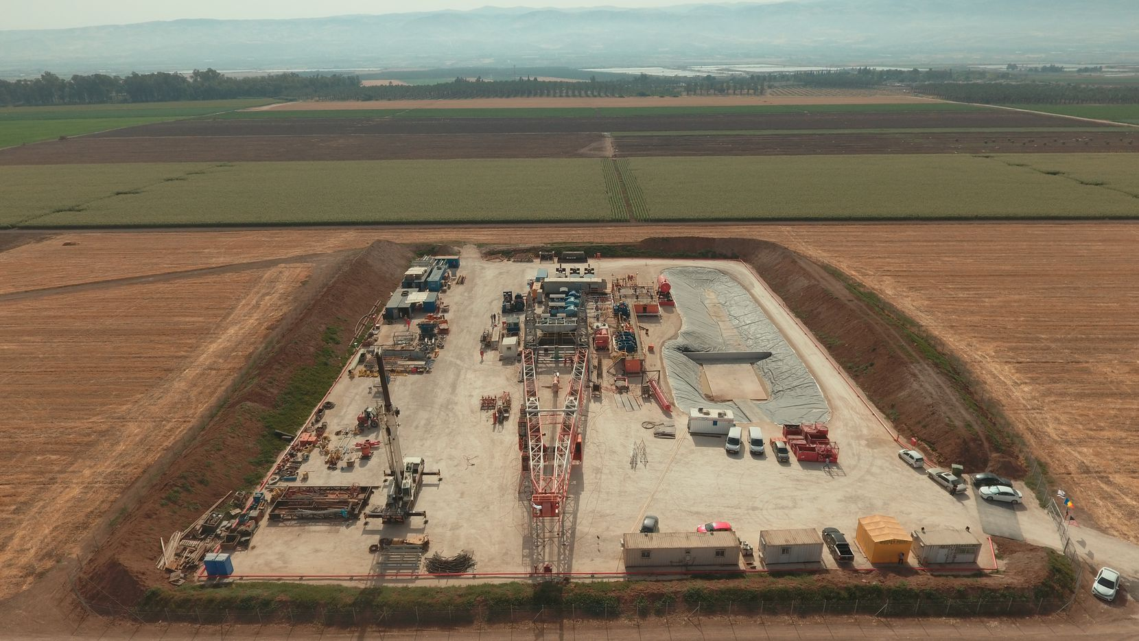 Zion's drilling site in Megiddo-Jezreel Valley in May