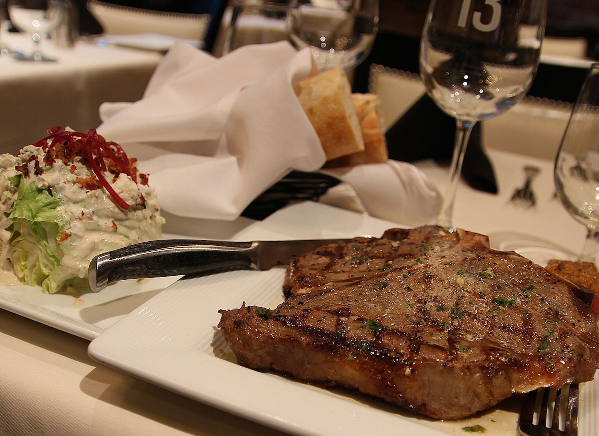 Table 13's Father's Day menu includes 18-ounce bone-in porterhouse steak.
