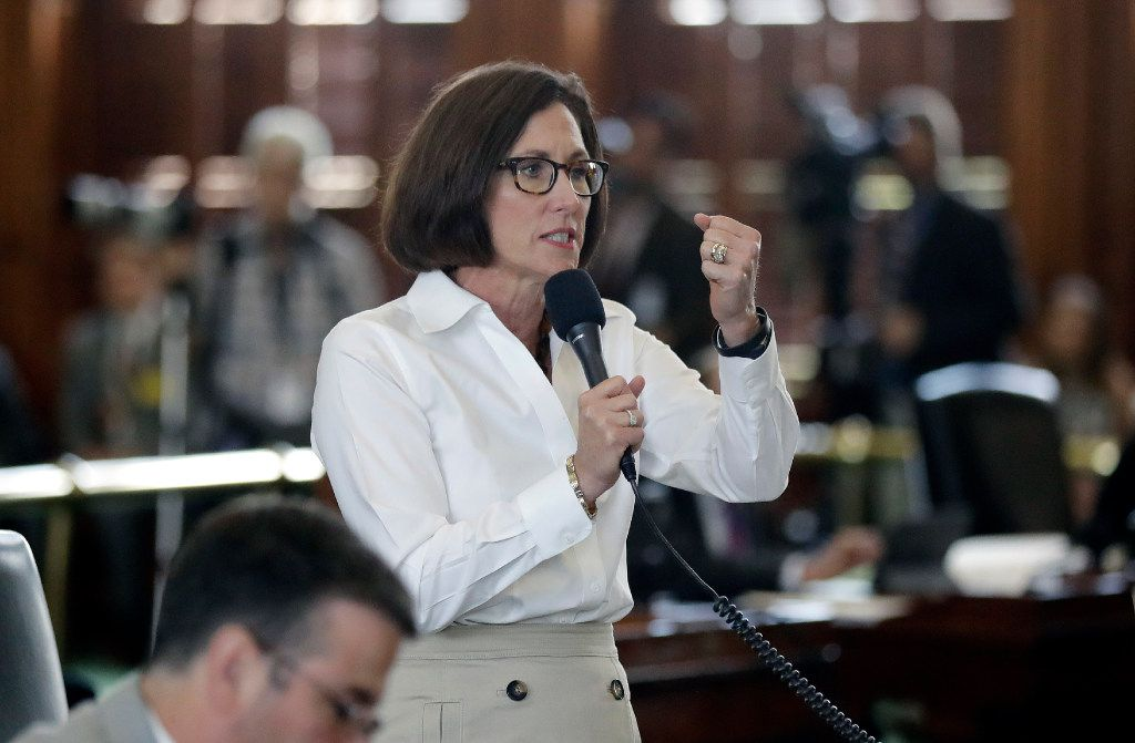 State Sen. Lois Kolkhorst, R-Brenham, spoke Tuesday during debate over a bathroom bill in the Senate.