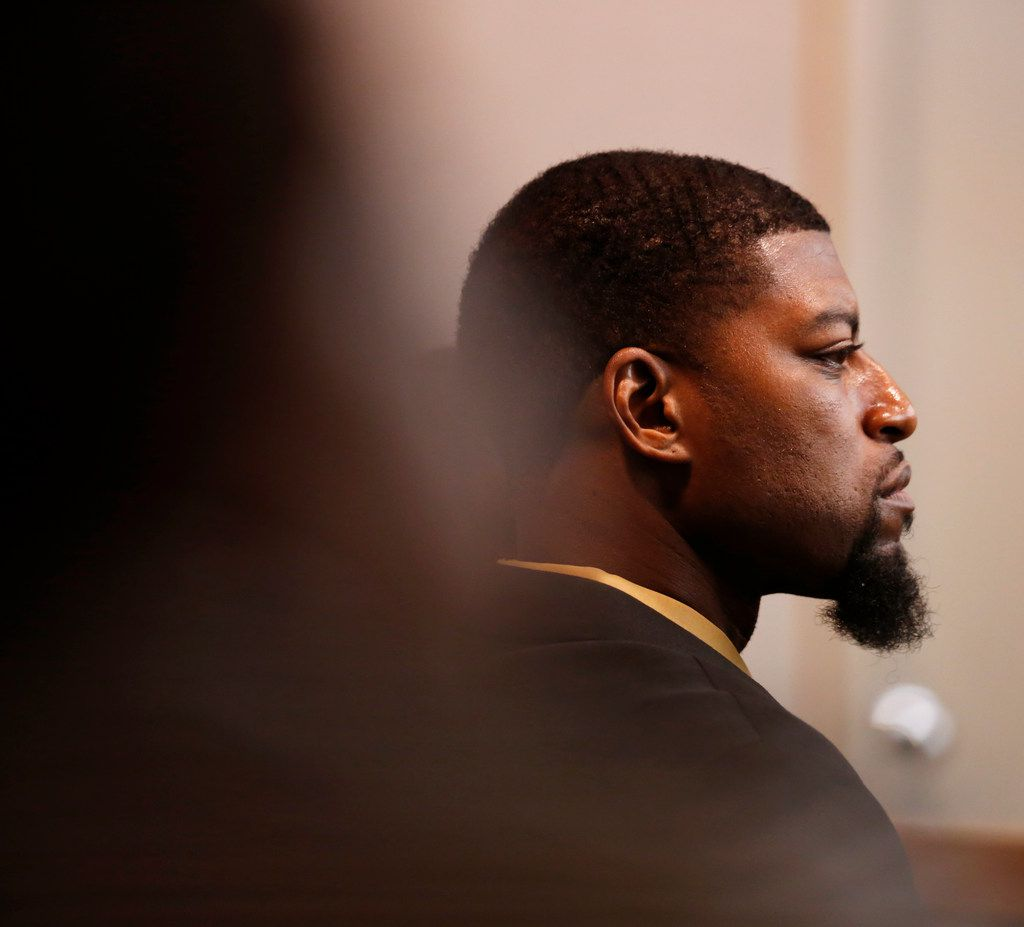 Jordan Edwards' father, Odell Edwards, listens to testimony during the murder trial of the former police officer who killed his son.