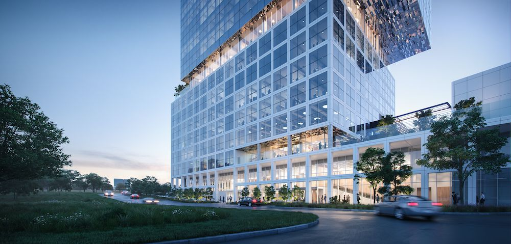 Gaedeke Group's 17-story tower will front on Sam Rayburn Tollway.