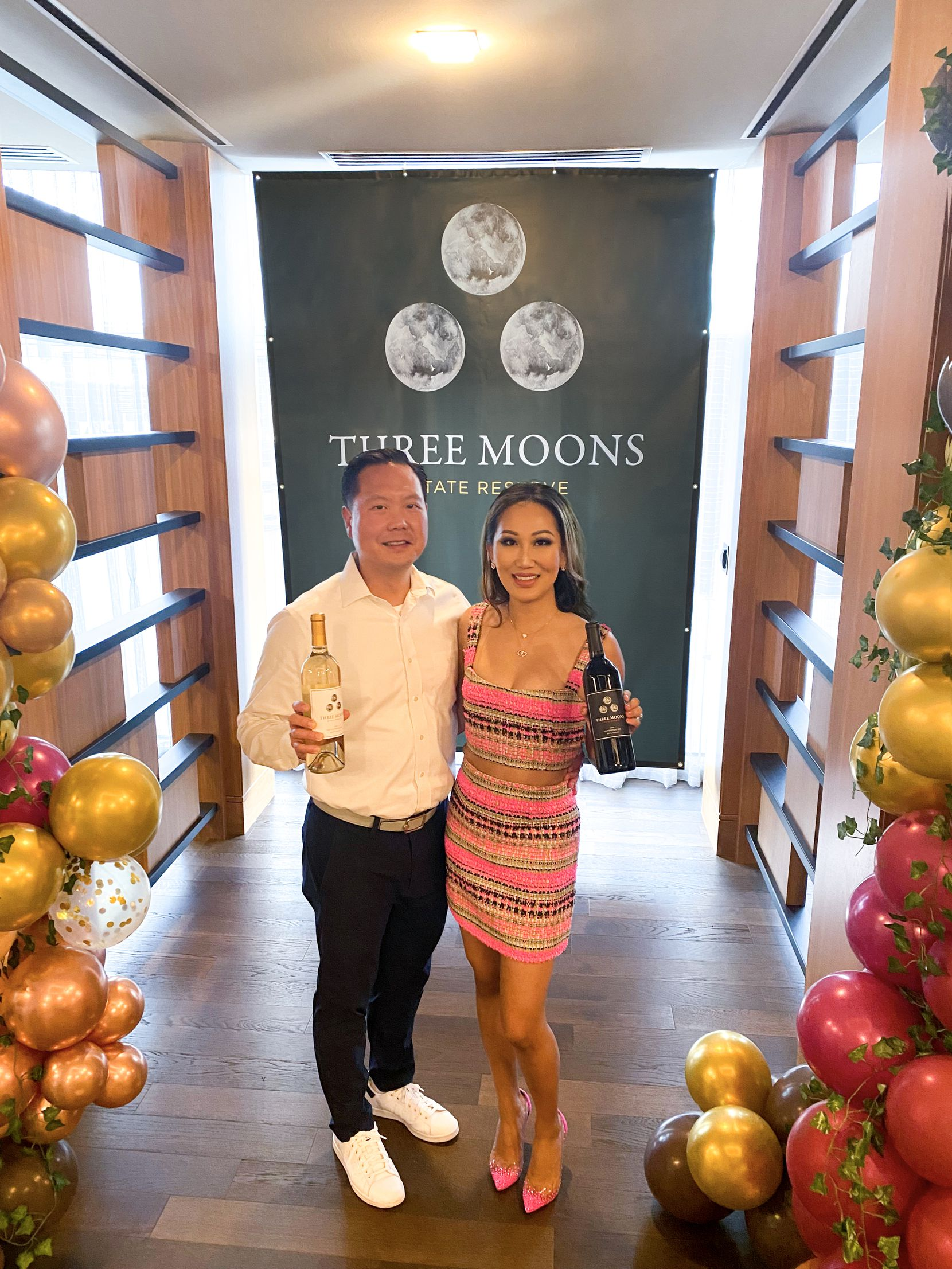Daniel and Tiffany Moon launch Three Moons wine.