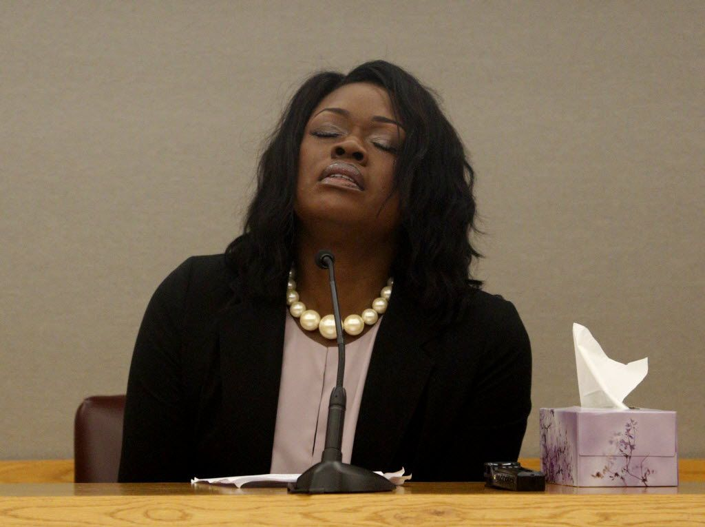 Troy Causey Jr.'s mother, Tammy Simpson, cried during her victim impact statement at Johnathan Turner's sentencing hearing last year.