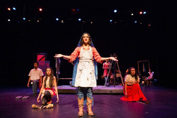 "Cara Mia Theatre Company performs ""Milagritos"" at the Latino Cultural Center in Dallas on Dec. 6, 2012."