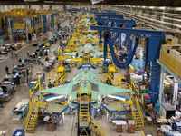 Lockheed Martin's assembly plant in Fort Worth builds F-35 Joint Strike Fighters.