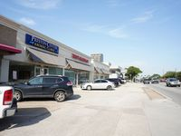 The retail strip is on Northwest Highway just east of the Dallas North Tollway.