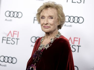 """Cloris Leachman attends the premiere of """"The Comedian"""" during the 2016 AFI Fest on Nov. 11, 2016 in Los Angeles. Leachman, who won an Oscar for her role in """"The Last Picture Show,"""" has died. She was 94."""