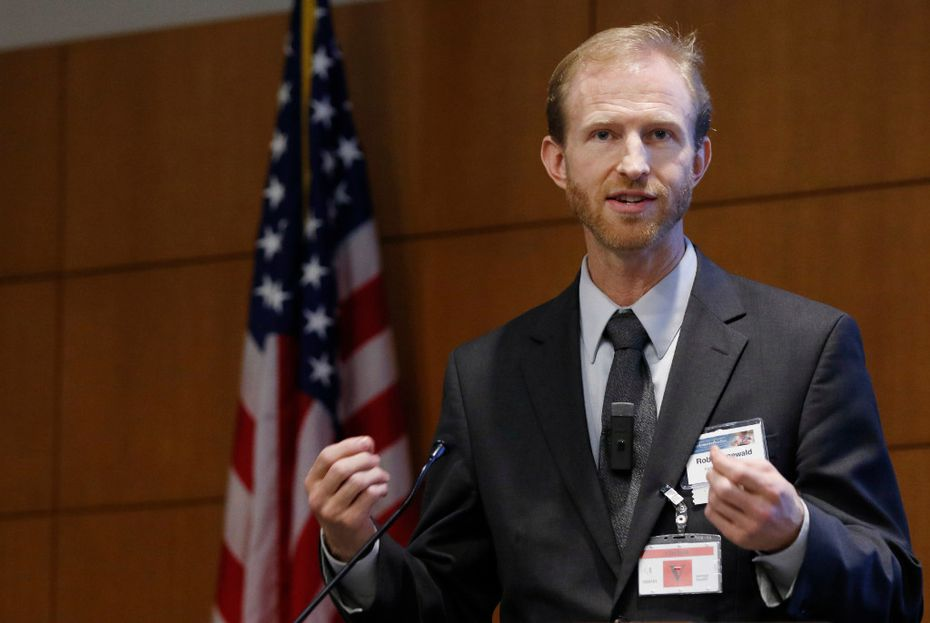 Rob Grunewald, economist at the Federal Reserve Bank of Minneapolis. (David Woo/The Dallas Morning News)