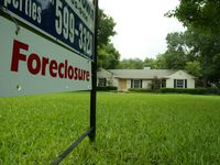 So far home foreclosure rates remain low.