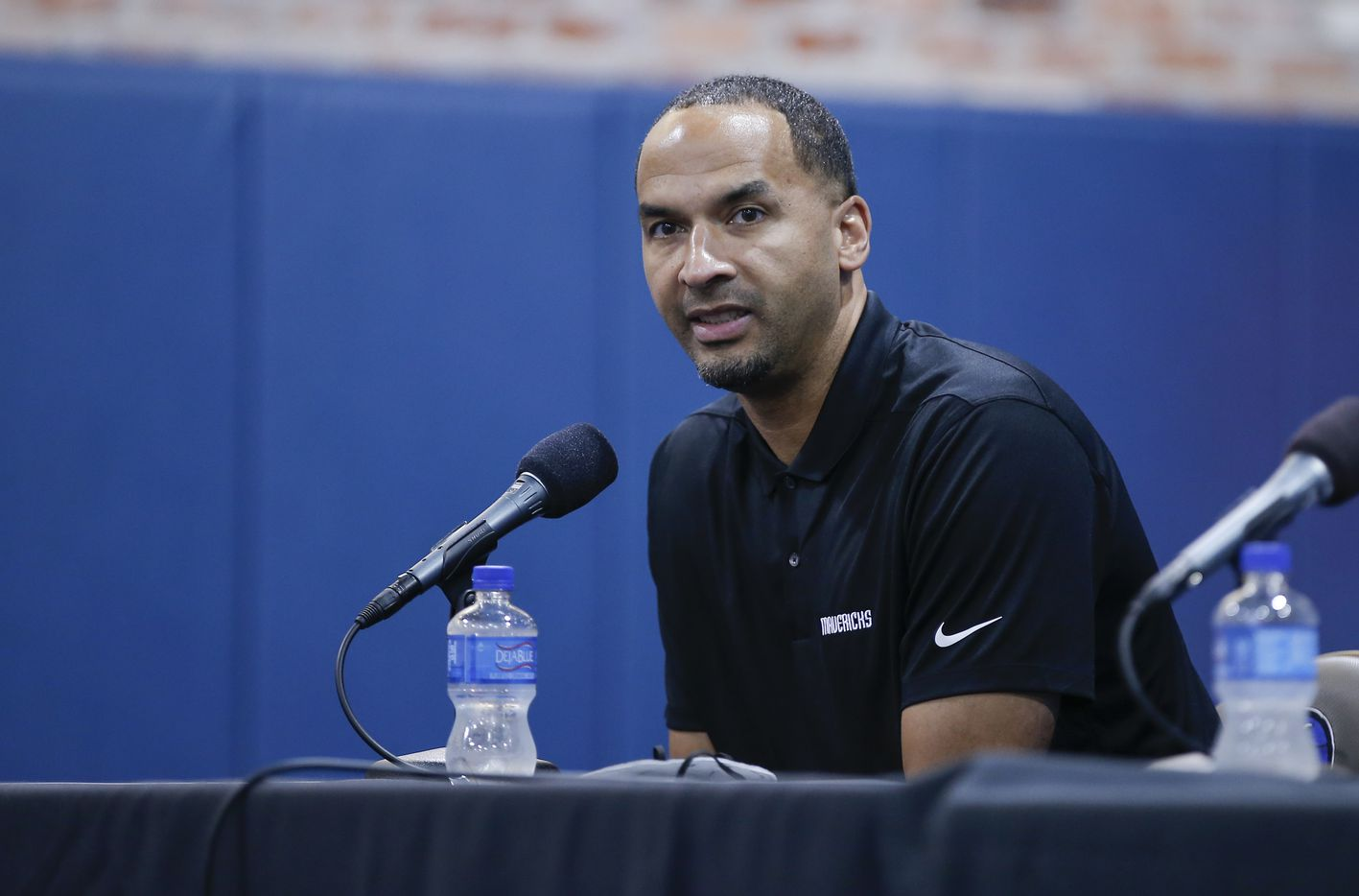 Dallas Mavericks General Manager  Nico Harrison speaks during a press conference in Dallas, Friday, August 27, 2021. (Brandon Wade/Special Contributor)