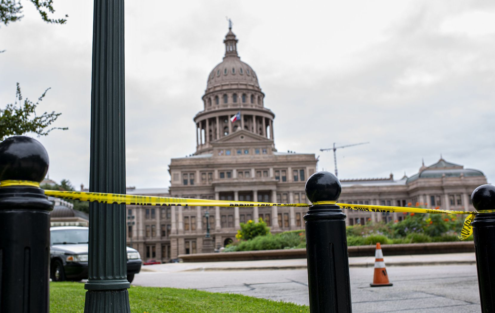 The north entrance to the Texas Capitol, off 15th Street in Austin, has been the only point of entry for weeks, and it's guarded by Department of Public Safety officers.