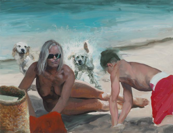 Eric Fischl's 'Surrounded by Dogs' 2017