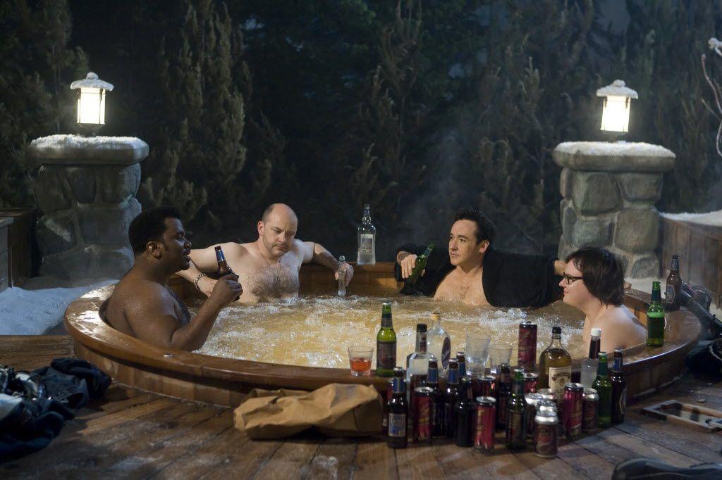 Craig Robinson, Rob Corddry, John Cusack and Clark Duke co-star in Hot Tub Time Machine.