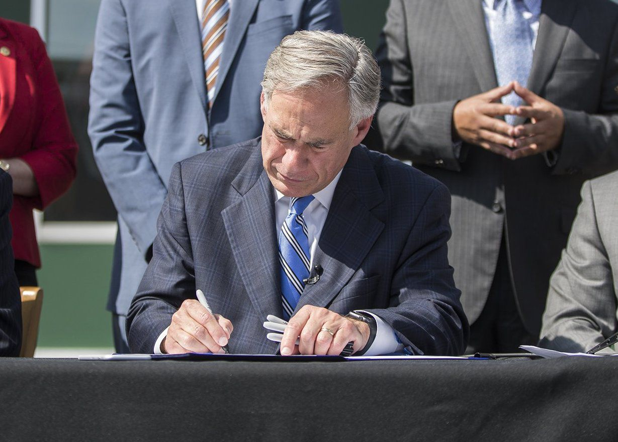 Gov. Greg Abbott got one of his priorities passed when state lawmakers OK'd fixes to the state's broken property tax system. Watchdog Dave Lieber says the changes improve the system. Here,  Abbott signs the bill into law.
