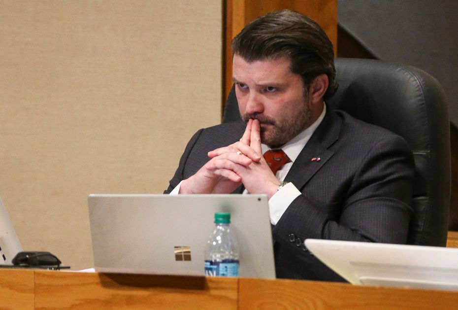 District 2 Commissioner J.J. Koch listened during a meeting of The Dallas County Commissioners Court oin January.