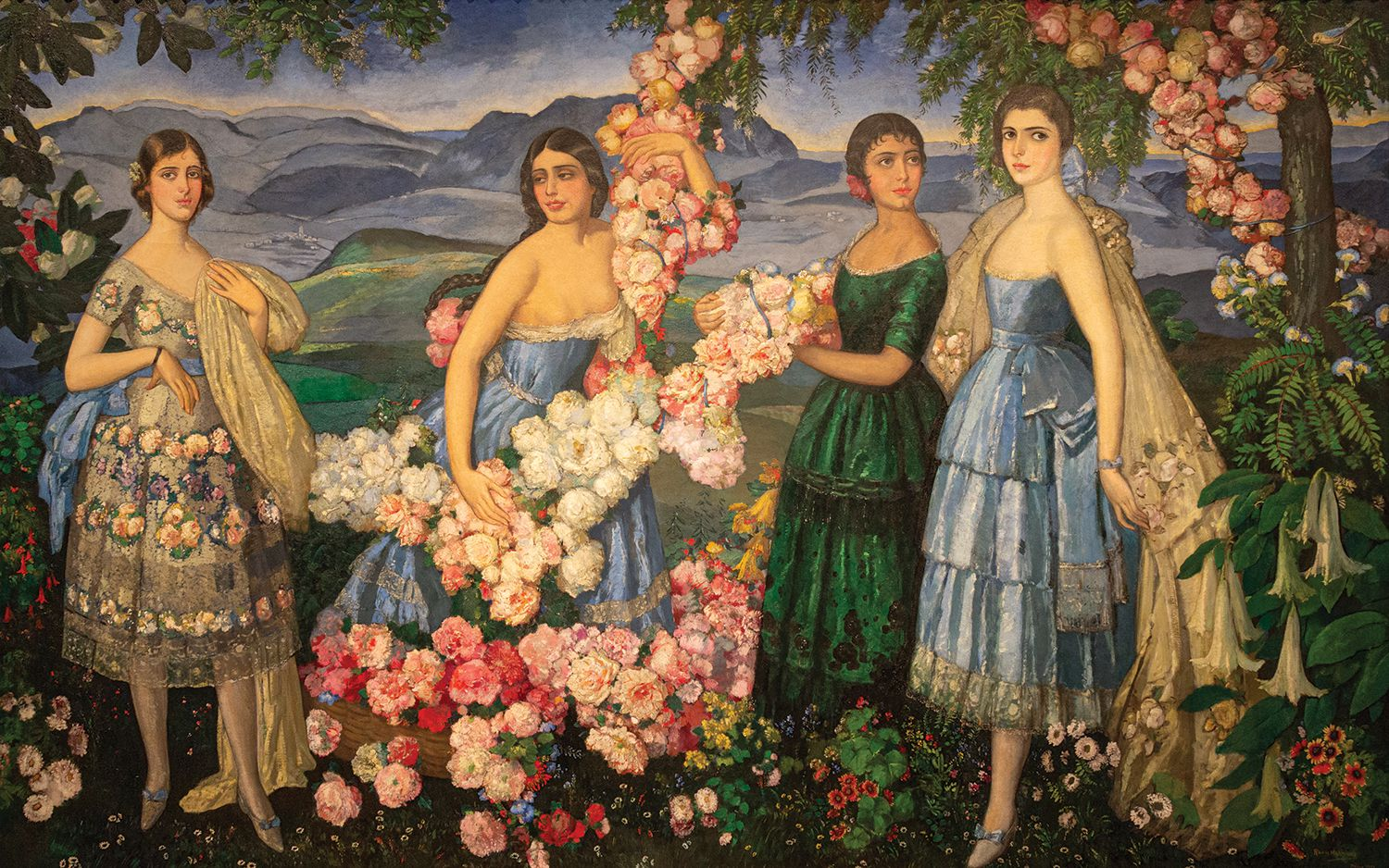 Alfredo Ramos Martinez, Flores Mexicanas, 1914-29, oil on canvas. It's the title piece in a current show at the DMA. Missouri Historical Society Collections. Reproduced by permission.