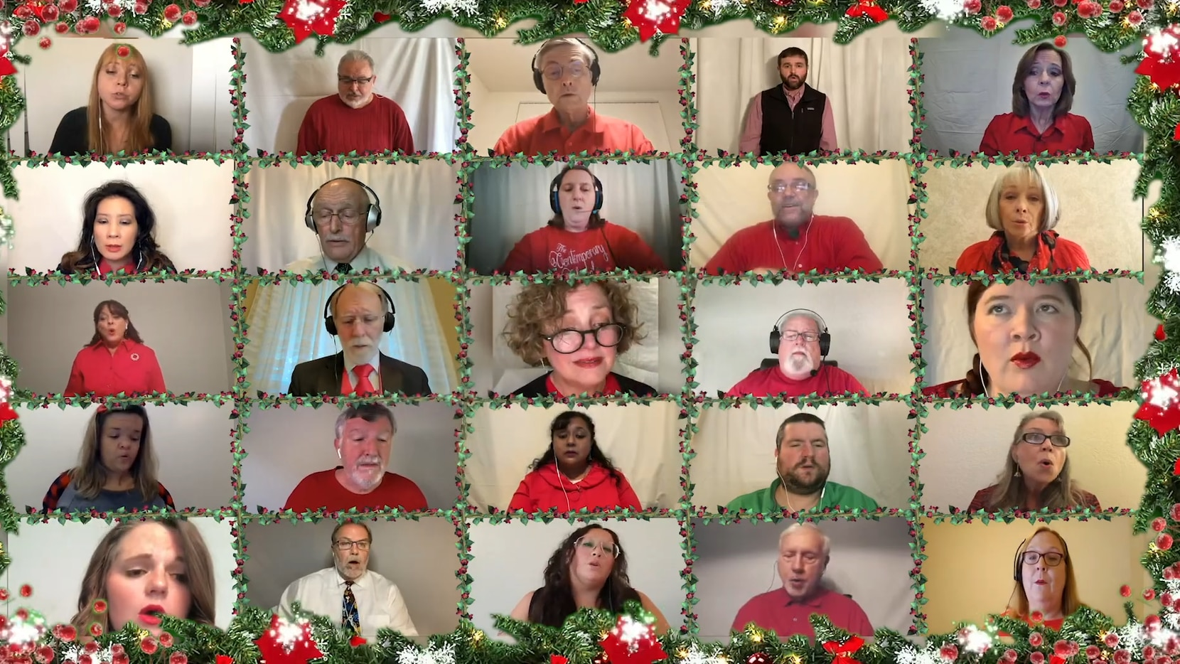 A screen shot of the latest performance by the Contemporary Chorale. The Richardson choir recorded its Christmas performance remotely and shared it online this year during the coronavirus pandemic.